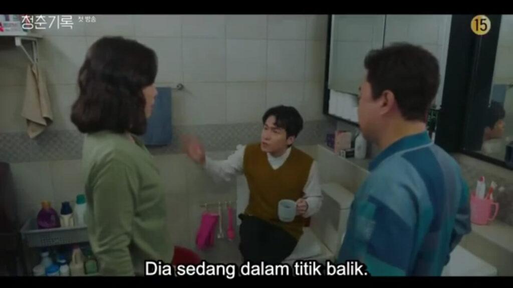 record of youth - keluarga sadiskusi di kamar mandi